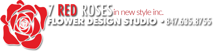 Seven Red Roses Flower Design Studio